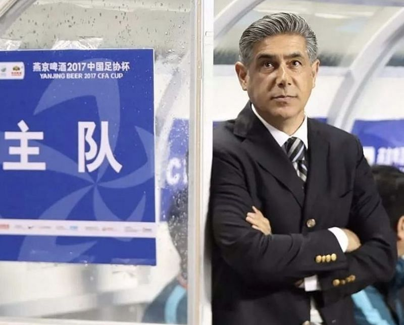 Afshin Ghotbi will head into the game against Beijing Guoan without the suspended Liao Chengjian