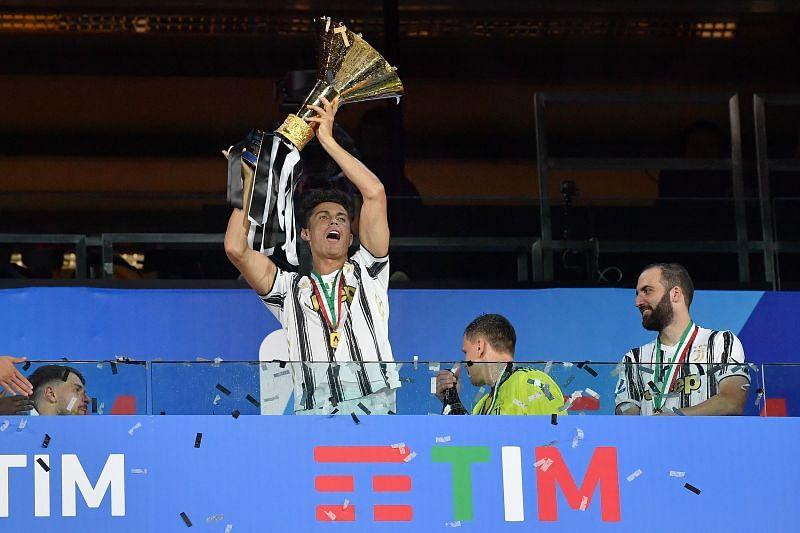 Ronaldo celebrating his second Serie A title win