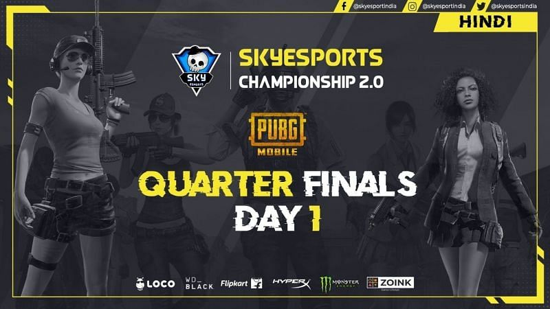 The PUBG Mobile Skyesports Championship 2.0 Day 1 recap