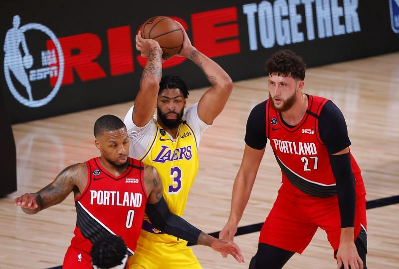 Portland Trail Blazers 88 111 La Lakers 5 Talking Points As Anthony Davis Puts On A Dominant Display Nba Playoffs 2020