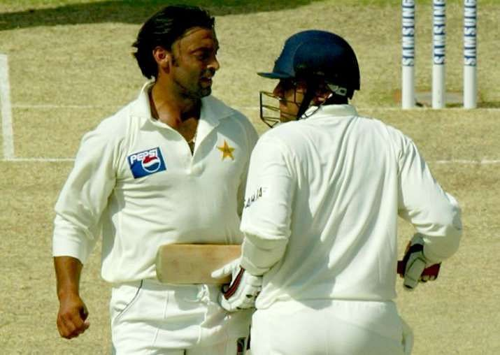 Shoaib Akhtar has been involved in many fiery battles with Indian batsmen