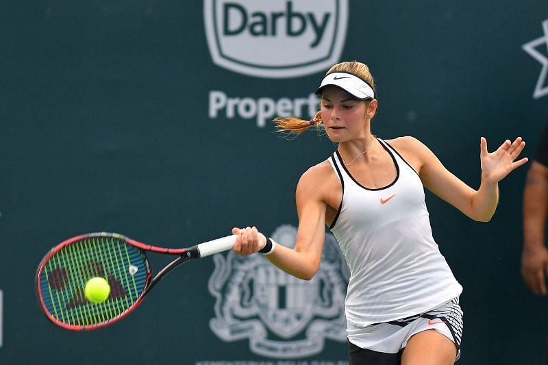 Katarina Zavatska will make her first appearance in the main draw of a Grand Slam