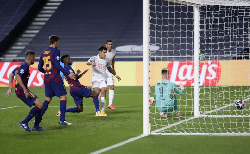 Barcelona struggled against Bayern Munich