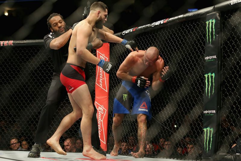 "Jorge Masvidal en route to his win against ""Cowboy"" in 2017"