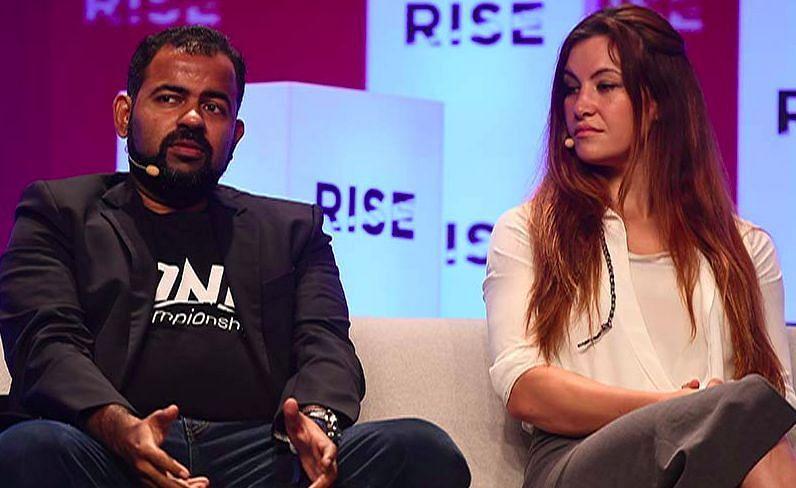 Hari Vijayarajan with Meisha Tate (image courtesy - thefangarage.com)