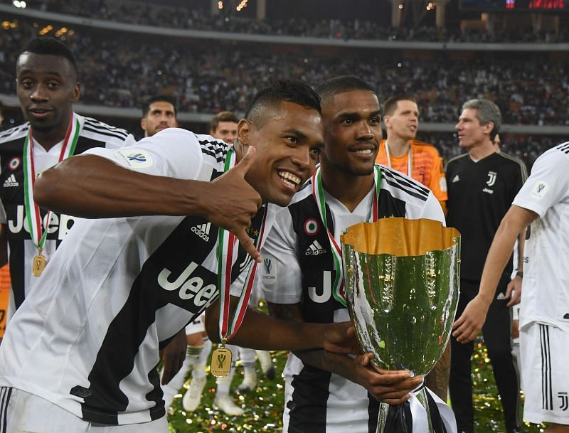 Juventus duo Costa (R) and Sandro (L)