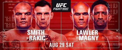 Watch UFC Fight Night 175 Smith Vs Rakic 8/29/20