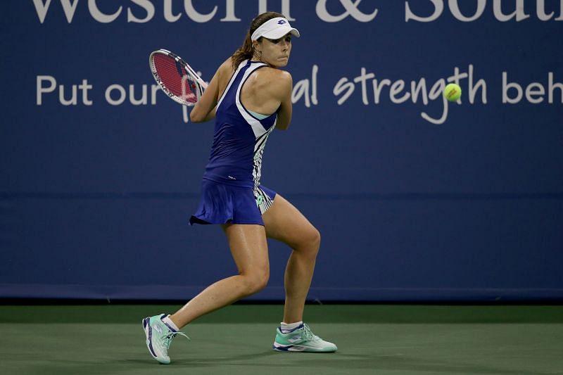 Alize Cornet upset the second seed Sofia Kenin