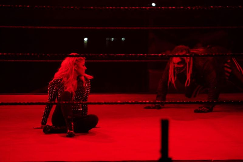 Alexa Bliss and The Fiend in a WWE ring
