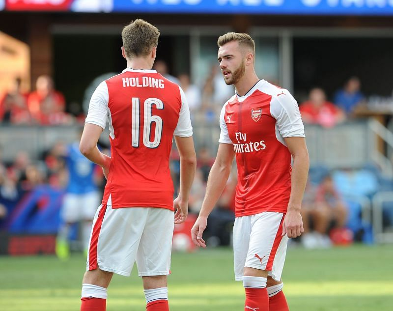 Rob Holding and Calum Chambers are two players set to leave Arsenal