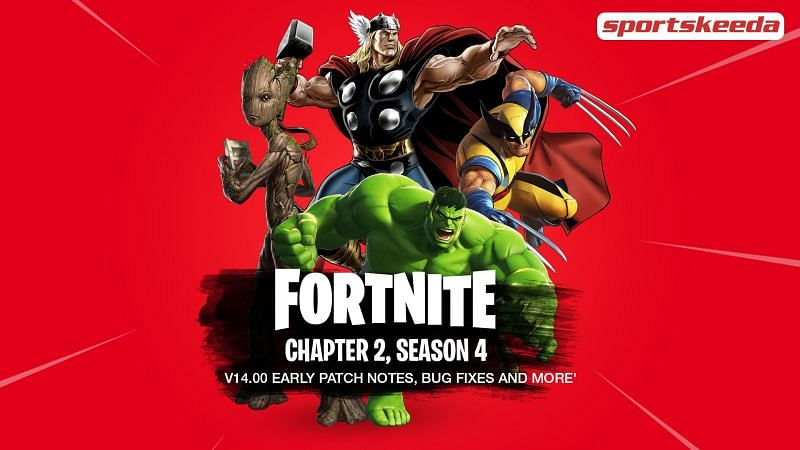 Fortnite Chapter 2 Season 4 Early v14.00 Patch Notes