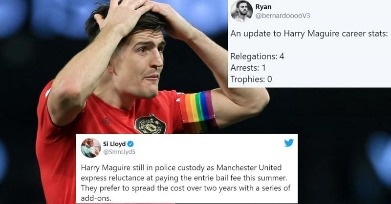 Twitter Explodes As Manchester United Captain Harry Maguire Gets Arrested In Greece After Bar Fight