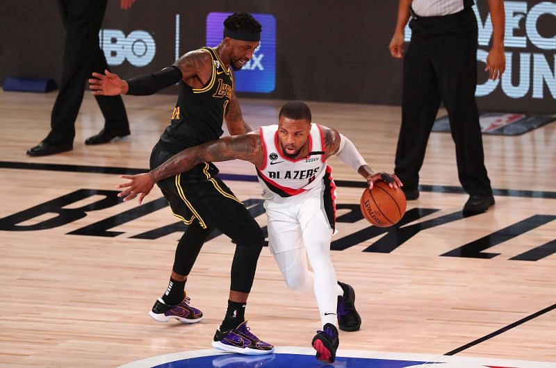 Damian Lillard sustained a knee injury in Game 4
