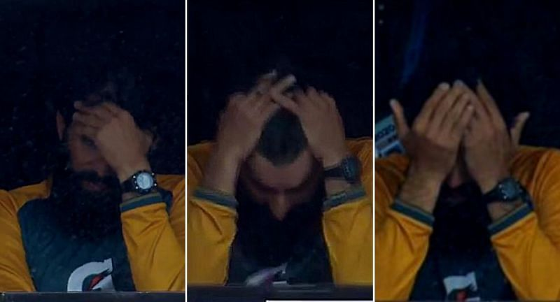 Misbah-ul-Haq expressing his disappointment during the 2nd T20I