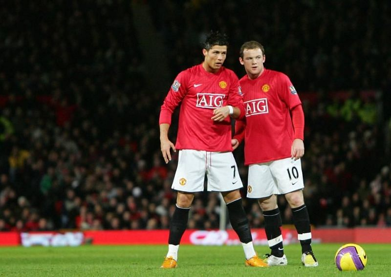 Wayne Rooney and Cristiano Ronaldo spent five years working at Manchester United