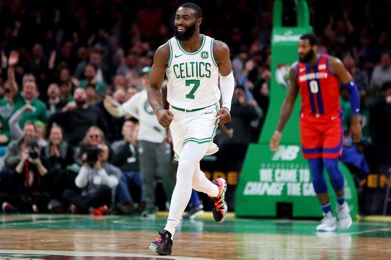 Jaylen Brown in action for the Boston Celtics