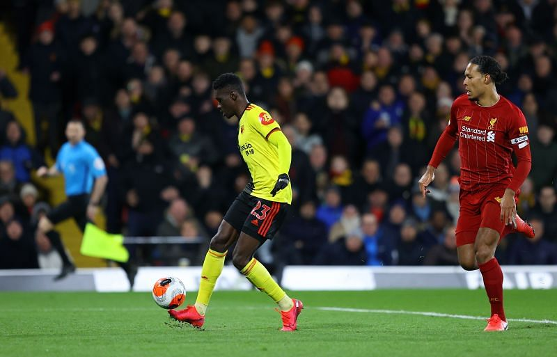 Sarr scored a brace to end Liverpool