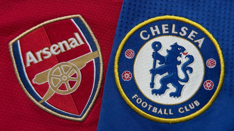 Arsenal and Chelsea badges - cropped