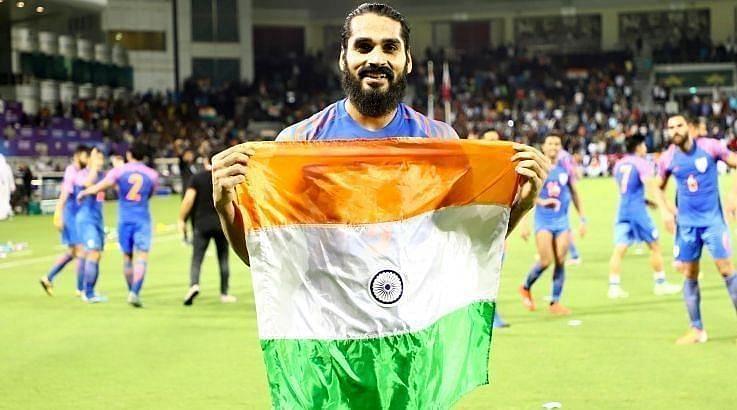 संदेश झिंगन - भारतीय फुटबॉल टीम