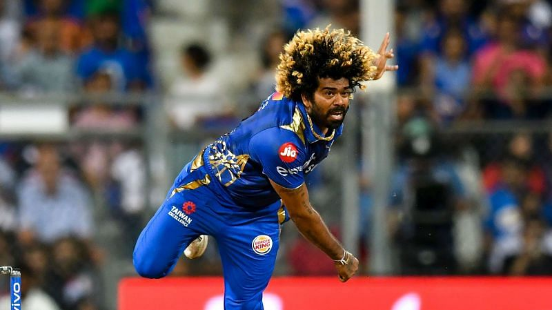 Lasith Malinga in action for the Mumbai Indians in the IPL