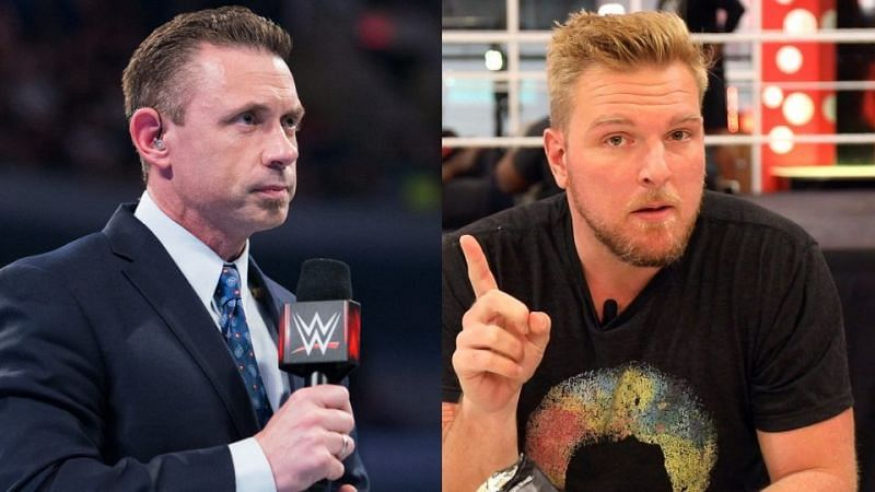 Pat McAfee and Michael Cole