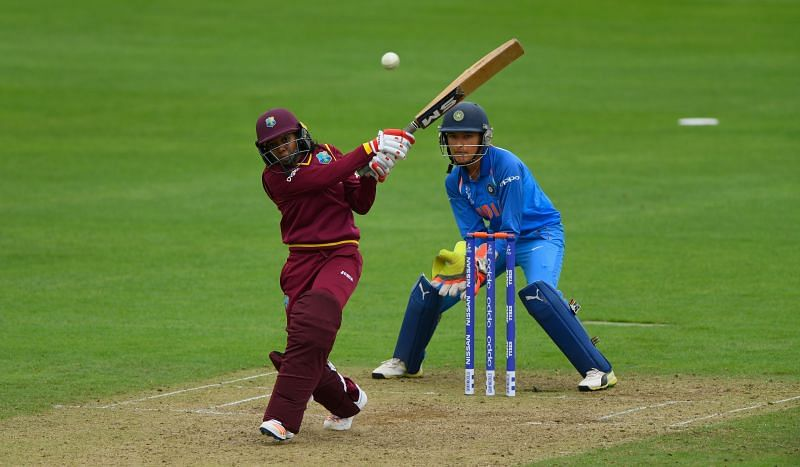Sushma Verma keeping the wickets against West Indies