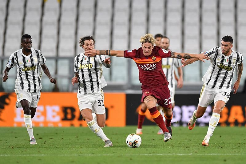 Juventus were beaten convincingly by Roma