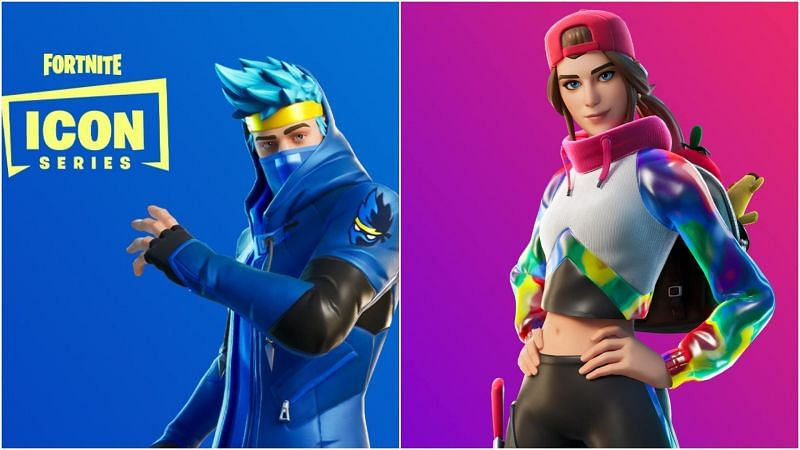 The Fortnite Ninja (L) and Loserfuit (R) skins