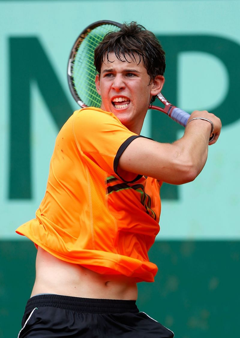 Dominic Thiem at French Open junior event in 2011