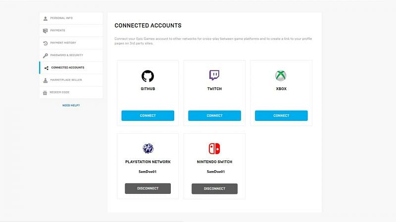 You can merge your primary and secondary accounts in Fortnite (Image Credit: Epic Games)