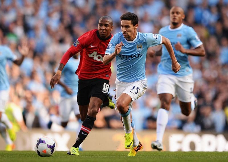 Jesus Navas and Ashley Young could have an amazing battle on the flank.