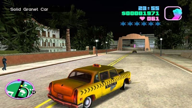 The taxi missions of Grand Theft Auto Vice City were popular among the fans (Picture: Rockstar Games)