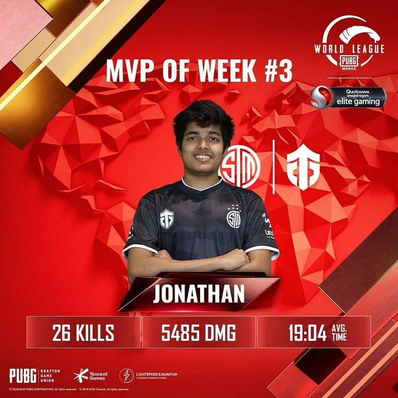 TSM Jonathan was MVP from Week 3 of the PMWL 2020 East Super Weekend