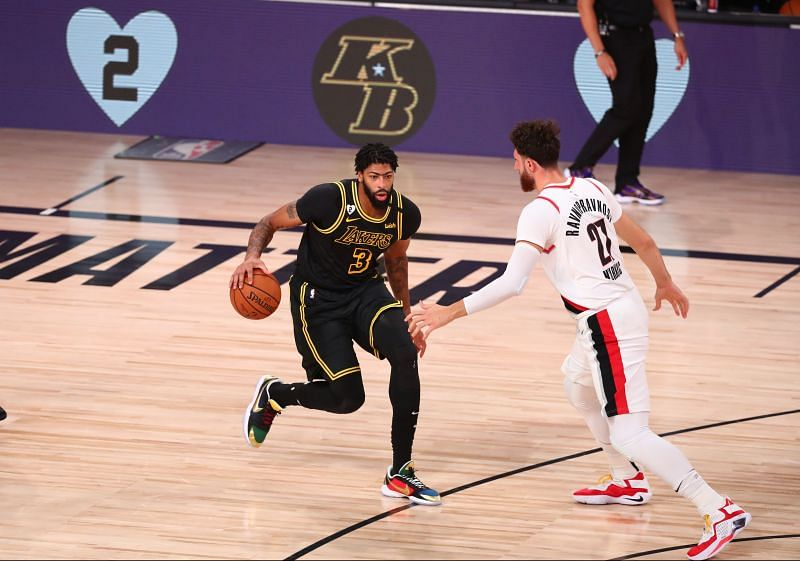 The LA Lakers brought out the Black Mamba jerseys against Portland Trail Blazers to honor Kobe Bryant