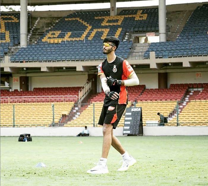 Devdutt Padikkal during an RCB training session