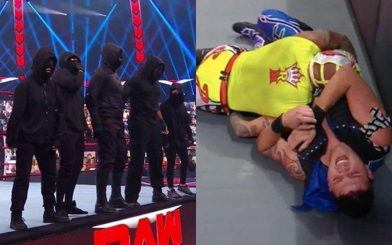 RETRIBUTION attacked Rey Mysterio and Dominik Mysterio on WWE RAW