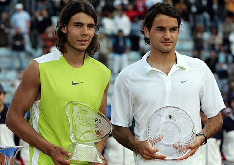 Rafael Nadal after beating Roger Federer in the 2006 Italian Open final
