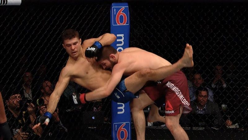 Khabib is arguably the best wrestler in UFC right now