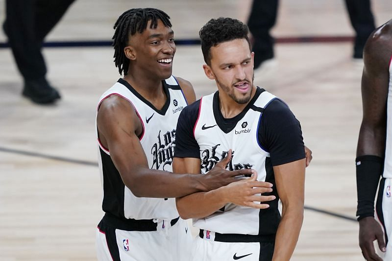 Landry Shamet (right) made all of his three-point attempts