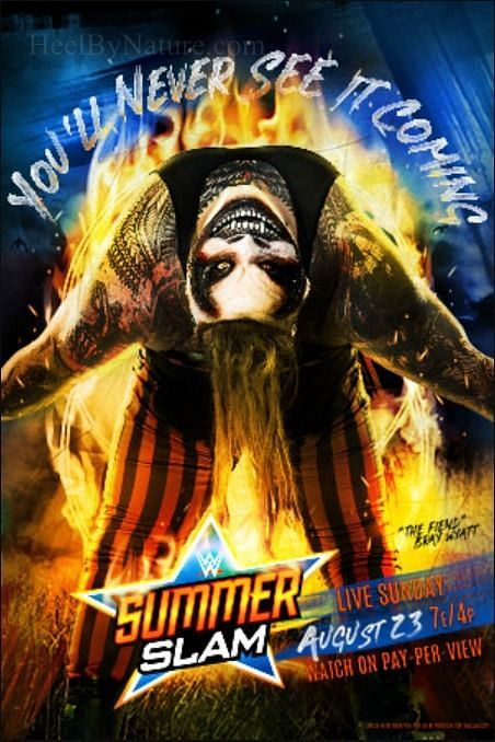 The WWE SummerSlam poster featuring Bray Wyatt
