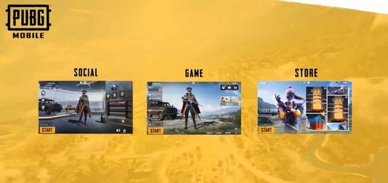 In-game functions divided into pages (Image Credits: PUBG Mobile / YouTube)
