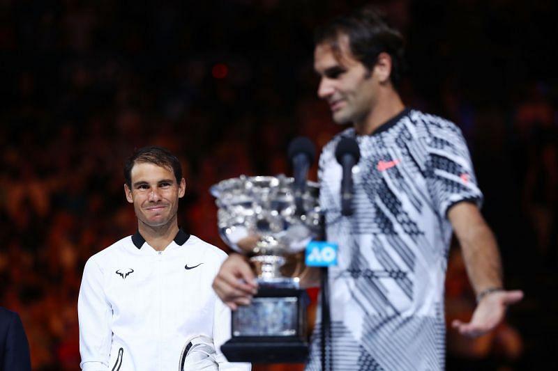 Roger Federer after defeating Rafael Nadal.