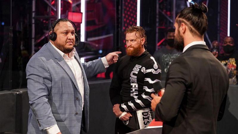 Samoa Joe, Murphy and Seth Rollins