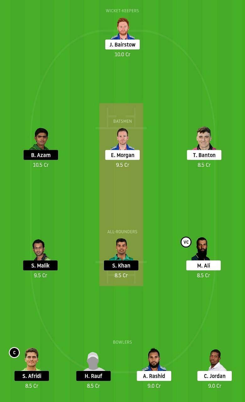 ENG vs PAK 3rd T20 Dream11 Tips