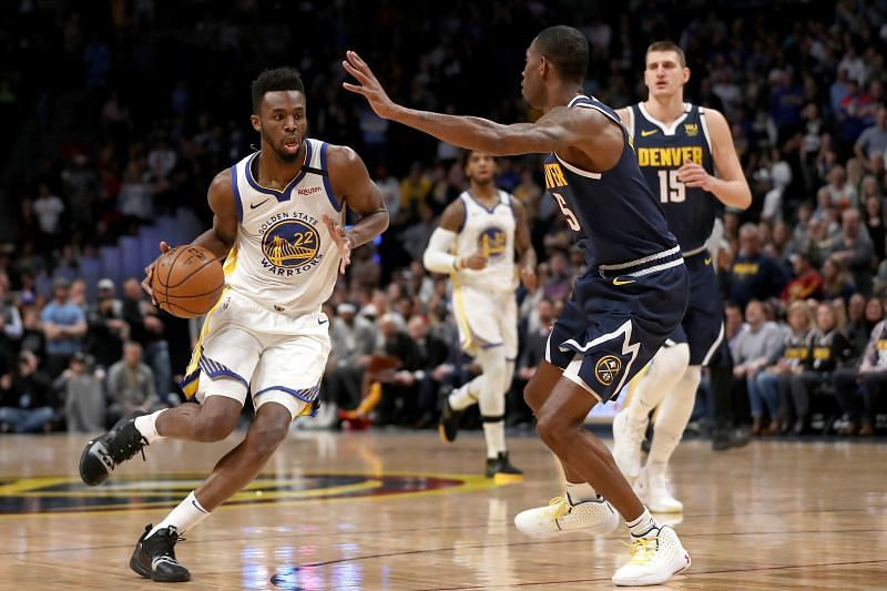 Andrew Wiggins is looking to develop as a solid two-way player for the Golden State Warriors