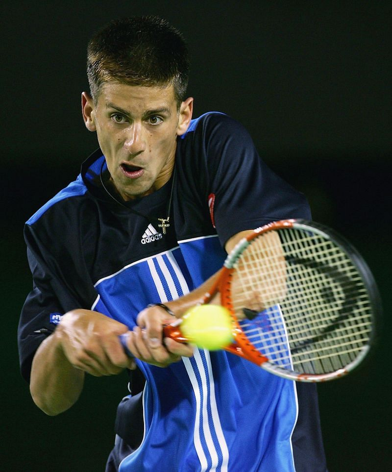 A 17-year-old Novak Djokovic at the 2005 Australian Open