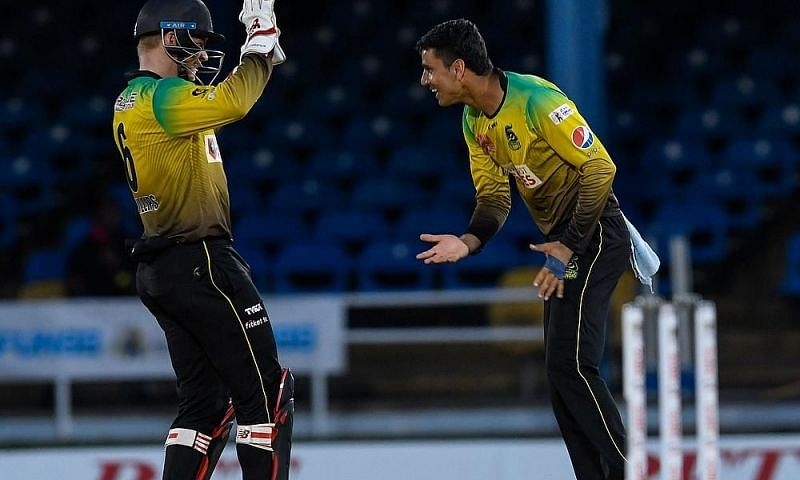 Mujeeb ur Rahman (R) will be the key for the Tallawahs in the upcoming CPL match