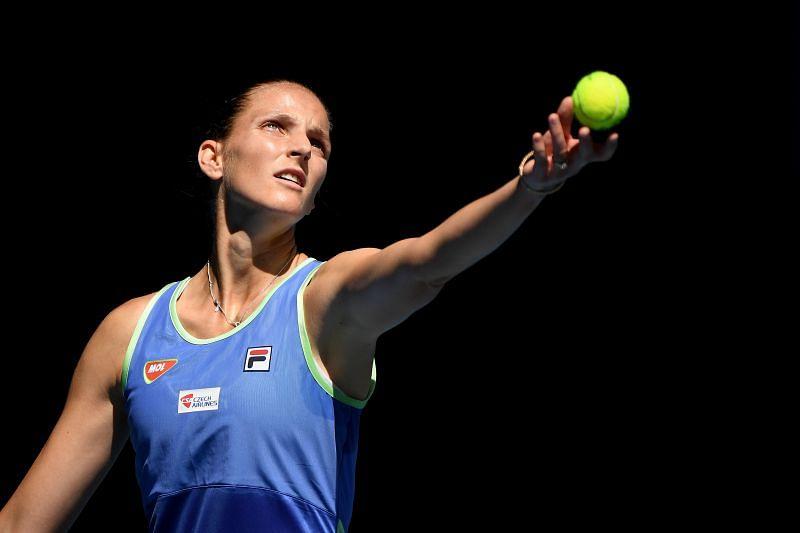 Karolina Pliskova at the 2020 Australian Open