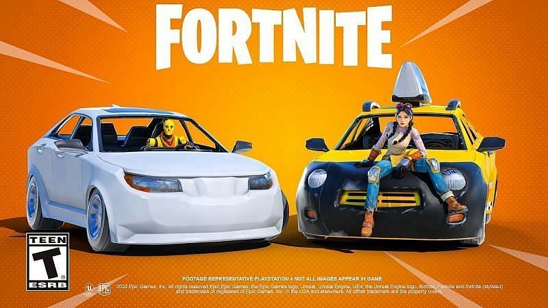 Cars in Fortnite (Image Credits: Epic Games)