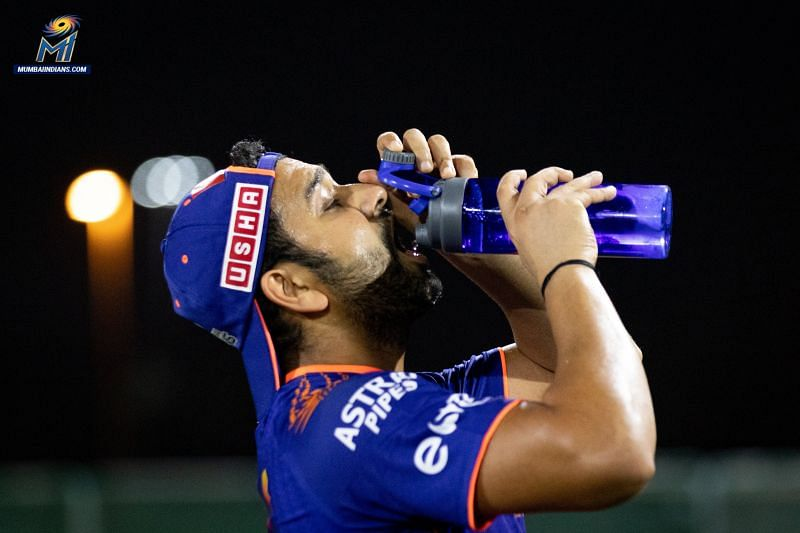 Rohit Sharma looked in great touch as MI began preparations for IPL 2020 [PC: MI Twitter]